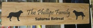 Carved Wood Cabin Sign