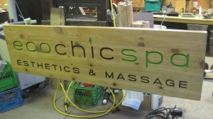 Wood Business Sign