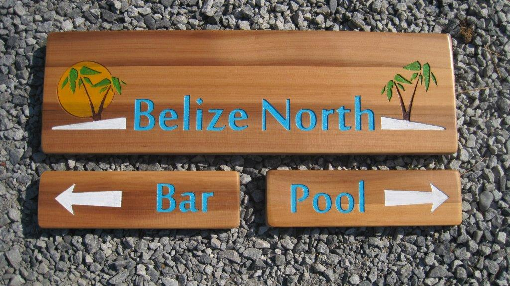 Wood sign, pub sign, pool sign