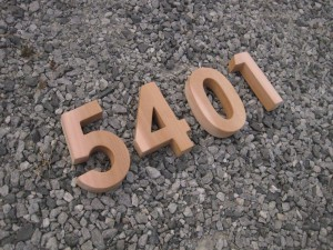 Carved Wood Numbers