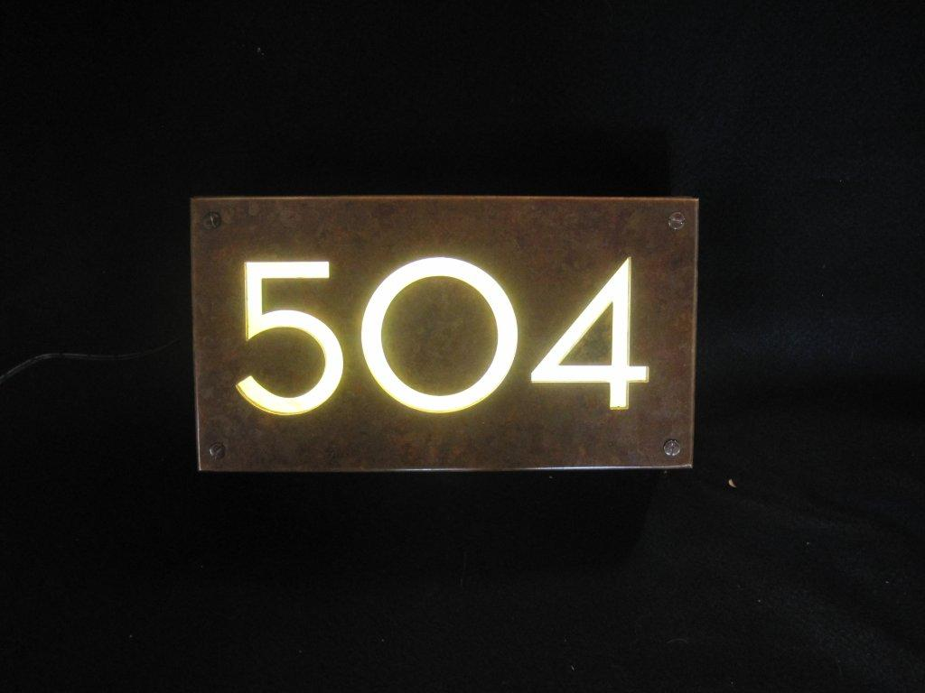 lighted house numbers and letters images