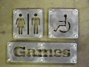 Metal Bathroom Signs