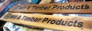 Wood Sign Mill and Timber 1
