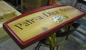 Wood Sign Pair A Dice 1