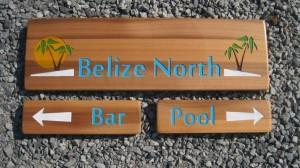 Wood sign, pub sign, pool sign
