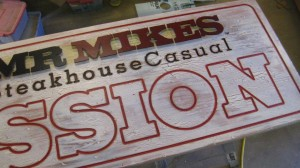 rustic painted sign