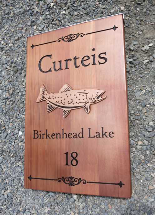 Wood Fish Sign