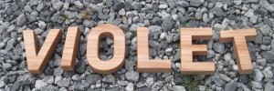 four inch solid maple letters