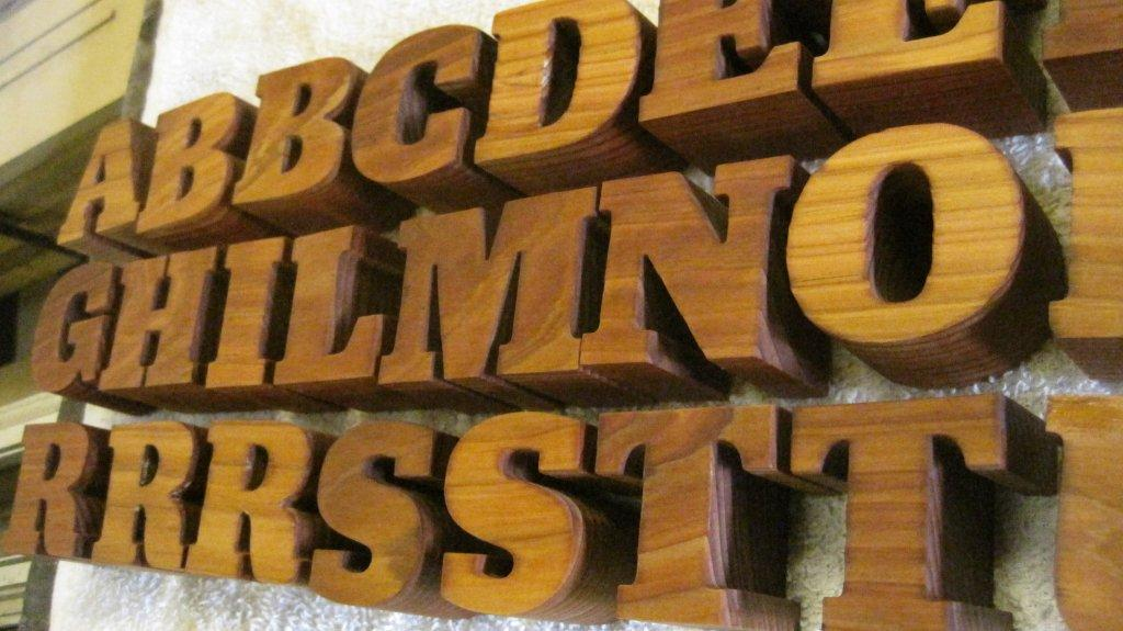 Permalink to Gold Wooden Letters