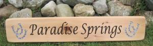 Beautiful Wood sign
