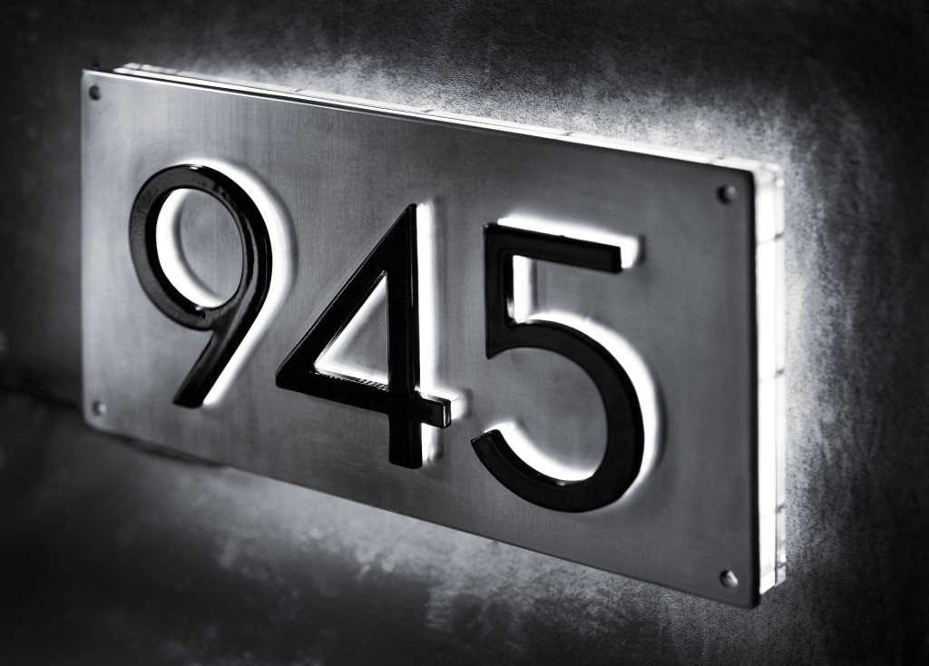 Stainless steel back lite letters and plaque