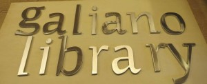 """half """" thick and 10"""" tall polish letters for Library sign"""